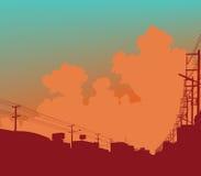 Stedelijke wolken vector illustratie