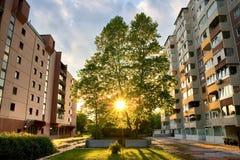 Stedelijke zonsondergang Royalty-vrije Stock Foto