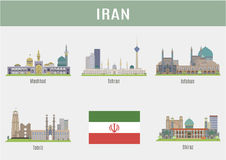 Steden in Iran Royalty-vrije Stock Foto's