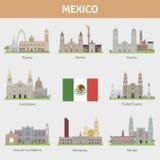 Steden in Mexico stock illustratie