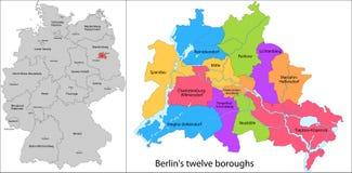 Steden van Berlijn vector illustratie