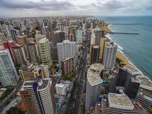 Steden van stranden in de wereld Stad van Fortaleza, staat van Ceara Brazilië Zuid-Amerika Het thema van de reis royalty-vrije stock afbeeldingen