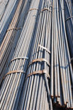 Steeel rod pile Royalty Free Stock Photo