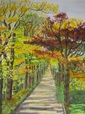 Steeg 2 van de herfst Stock Afbeeldingen