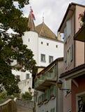Steeg aan het kasteel Nyon royalty-vrije stock afbeelding