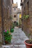 Steeg. Calcata. Lazio. Italië. stock afbeeldingen