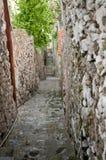 Steeg in de Kust Italië van Praiano Amalfi Stock Foto