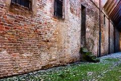 Steeg in de oude stad stock fotografie