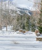 Steeg de van de binnenstad van Breckenridge Colorado royalty-vrije stock foto
