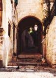 Steeg in Dubrovnik stock afbeeldingen