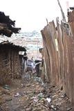 Steeg en huisvuil, Kibera Kenia Stock Foto's