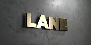 Steeg - Gouden teken opgezet op glanzende marmeren muur - 3D teruggegeven royalty vrije voorraadillustratie stock illustratie