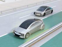 Steeg het houden staat functieconcept voor autonoom voertuig bij stock illustratie