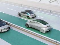 Steeg het houden staat functieconcept voor autonoom voertuig bij royalty-vrije illustratie