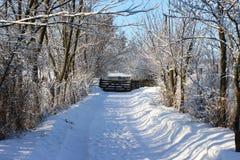 Steeg met sneeuw Stock Foto