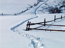 Steeg in sneeuw Stock Fotografie