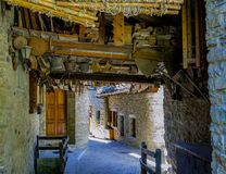 Steeg van Courmayeur Valle D ` Aosta, Italië royalty-vrije stock foto's