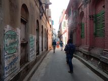 Steeg van Oud Deel van Kolkata-Stad, India royalty-vrije stock afbeelding