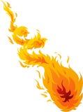 Steek Bal 01 in brand Stock Afbeeldingen