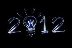 Steek het schilderen van 2012 op zwarte aan Royalty-vrije Stock Foto