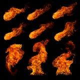 Steek reeks in brand Stock Afbeelding