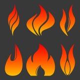 Steek reeks in brand Stock Foto's