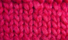 Steekproef van het breien met zacht garen Stock Afbeelding