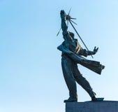 Steekproef van monumentale kunst van de USSR Stock Afbeelding