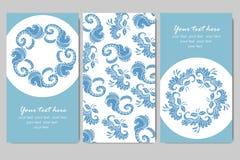 Steekproefadreskaartje met bloemen Stock Foto