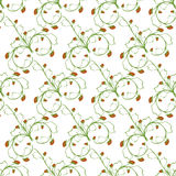 Steekproefpatroon van witte ritmische groene aardbeien als achtergrond Royalty-vrije Stock Foto