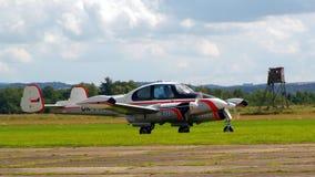 Steekproefvliegtuigen airshow Stock Foto