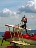 Steekproefvliegtuigen airshow Royalty-vrije Stock Fotografie