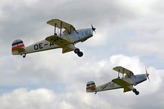 Steekproefvliegtuigen airshow Royalty-vrije Stock Foto