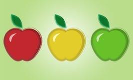 Steekproeven van appelen Stock Foto's