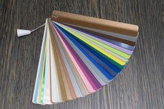 Steekproeven van horizontale zonneblinden Royalty-vrije Stock Foto's