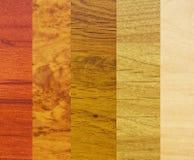 Steekproeven van houten deklagen royalty-vrije stock foto