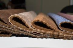 Steekproeven van meubilairstoffen Royalty-vrije Stock Afbeeldingen