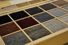Steekproeven van tapijt royalty-vrije stock afbeeldingen