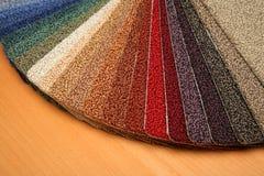 Steekproeven van tapijt Stock Afbeelding