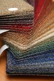Steekproeven van tapijt Stock Foto