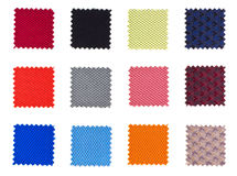 Steekproeven van textiel stock foto's