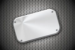 Steel. Plate on grill pattern Royalty Free Stock Images