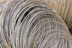 Steel. The photo is Steel coil Royalty Free Stock Photography