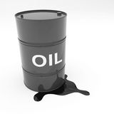 Steel 55 Gallon Oil Drum leaking Royalty Free Stock Photos