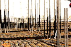 Steel. The steel reinforcement rods, column royalty free stock photography