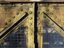 Steel. Construction detail of a steel bridge truss Stock Photography