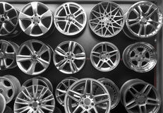 Steel alloy car disks Royalty Free Stock Photo