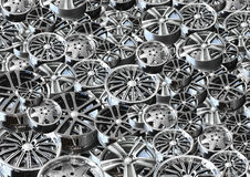 Steel alloy car rim Stock Images