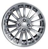 Steel alloy car rim Royalty Free Stock Photos
