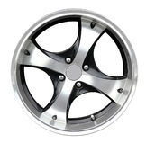 Steel alloy car rim Royalty Free Stock Images